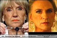 Ariz. Governor Jan Brewer Totally Looks Like Terence Stamp in Priscilla, Queen of the Desert