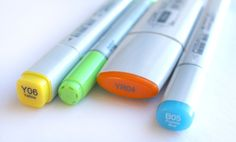 Copic 101: Everything you need to know about copics! From left to right: Copic Original, Copic Ciao, Copic Wide, Copic Sketch.