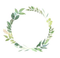 Green Leaves Frames Foliage Clipart Greenery Wedding | Etsy Watercolor Clipart, Wreath Watercolor, Watercolor Flowers, Watercolor Art, Watercolor Wedding, Leaf Clipart, Frame Clipart, Leaf Border, Floral Border