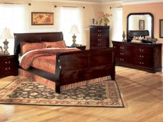 Bedroom:Design Shop Every Day Low Prices On Lifestyle Cherry Louis Philippe Queen Bedroom Set In Myrtle Beach At Seaboard Bedding Furniture Lifestyle Cherry Louis Philippe King Bedroom Ideas Cozy Bedroom Design Ideas With Built-in Fireplace