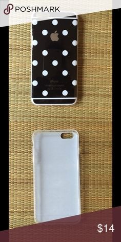 🆕 BLK/WHITE POLKADOT IPHONE 6/6S PLUS PHONE CASE 🆕 black, white POLKADOT iPhone 6/6S phone case. Sturdy, well made, adorable case. Great gift. Imported, state of the art, thermo laser-bonded, silicone rubber case. Reasonable offers/bundles welcome, no trades. My environment is clean/organized/pet/smoke free. Please make any inquires, all sales are final on PM. Thank you for shopping my boutique. DARLING Accessories Phone Cases