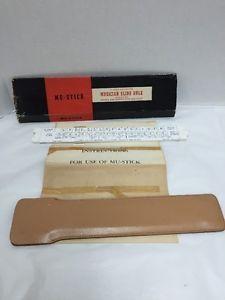 Musician-Slide-Rule-10-Inch-Engraved-Sheath-and-Instructions-Mu-Stick-Box