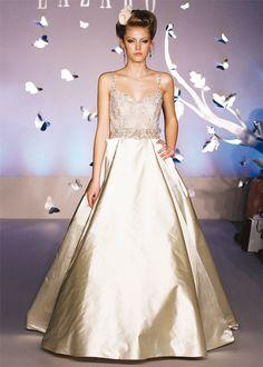 Exquisite Lazaro Wedding Dress In Pink Champagne Wish Bridal Shoot
