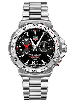 TAG Heuer Formula 1 Grande Date Alarm Gents Watch Model: WAH111C.BA0850 Black Dial with 2 Counters, Scratch Resistant Sapphire Crystal, Stainless Steel Case and Bracelet, Quartz Movement, Water Resistant up to 200 Metres | Cheeky Wish List | Wedding and Birthday Gift Ideas for Men and Women