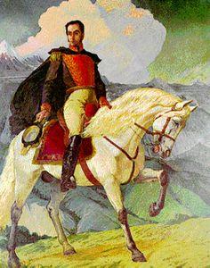 Retrato al óleo de Simón Bolívar, por Paul Guérin (1824). Ministerio de Relaciones Exteriores, Caracas.