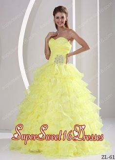 2015 Light Yellow Ruffles Sweetheart Appliques Quinceaners Gowns For Military Ball Prom Dresses Under 100, Prom Dresses 2015, Elegant Prom Dresses, Prom Dresses For Sale, Ball Gown Dresses, 15 Dresses, Cute Dresses, Beautiful Dresses, Cheap Quinceanera Dresses