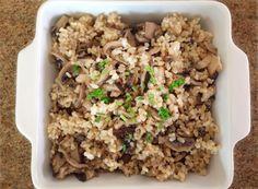 arroz com shimeji e shitake natural vibe
