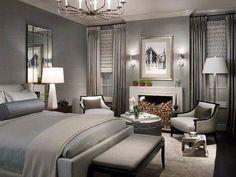 bedroom very sophisticated!