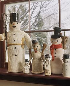 Nice antique snowmen collection