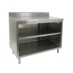 Finally....found what I was looking for...commercial kitchen dish cabinet with backsplash