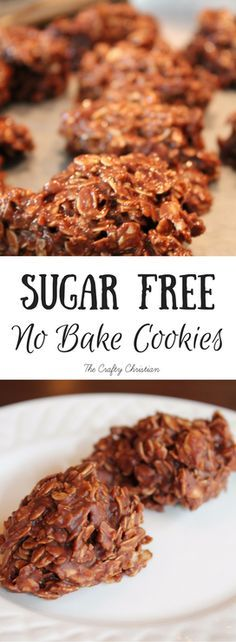 Low Carb Meals This time of year, cookies just seem to go with everything. I love sweets, but I don't want to eat sugar constantly. These sugar free no bake cookies are not only easy, but they've got no refined sugar. They are DELISH! Sugar Free No Bake Cookies Recipe, Sugar Free Recipes, No Sugar Cookies, Baking Cookies, Sugar Free Meals, Sugar Free Biscuits, Healthy No Bake Cookies, Sugar Free Deserts, Sugar Free Sweets
