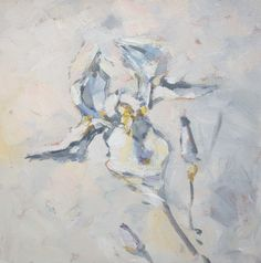 Nicole Laceur. White and grey/blue flower