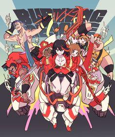 Kill La Kill Cosplay, Kill A Kill, Manga Anime, Anime Art, Gurren Laggan, Character Art, Character Design, Anime Crossover, Fan Art