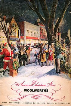 In marked contrast to the austerity and rationing facing shoppers at its European subsidiaries, the American F. Woolworth Co its clientele to a new, full-colour Christmas Catalogue in