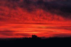 red Sunset by Iuliia Malivanchuk #IuliiaMalivanchukFineArtPhotography #ArtForHome #FineArtPrints #HomeDecor #sky #clouds #sunrise #sunset #Pink