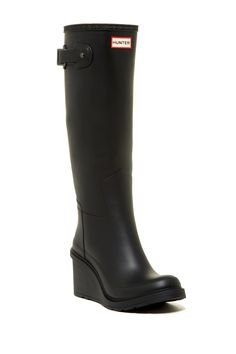 c3f4eb77d5c Original Refined Wedge Rain Boot by Hunter on  nordstrom rack Womens  Fashion For Work