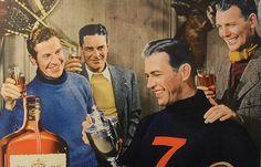 1940s Seagrams 7 Liquor Advertisement Vintage Photo Sportsmen Menswear Fashion | by Christian Montone