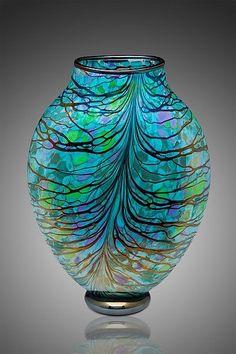 Stained Glass Art, Mosaic Glass, Vases, Broken Glass Art, Shattered Glass, Glass Artwork, Glass Design, Hand Blown Glass, Oeuvre D'art