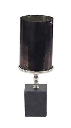 Offshore oil rig black metal votive candle holder