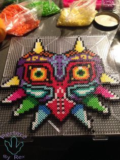 Majora's Mask perler beads by PerlerzByRex on deviantART