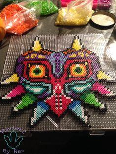 Majora's Mask perler beads by PerlerzByRex on deviantART