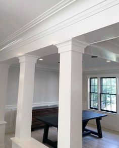 From traditional ornate plaster to modern wooden trim, discover the top 70 best crown molding ideas. Interior Columns, Interior Shutters, Interior Trim, Best Interior, Interior Plants, Luxury Interior, Crown Molding Modern, Ceiling Crown Molding, Moulding
