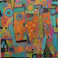 Sue Davis Fort Wayne, Indiana. 16x16 acrylic on canvas.