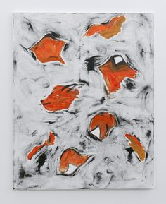 Stella Corkery, Black, Orange, Red, Yellow, 2015, oil on canvas, 1250 x 1000 mm
