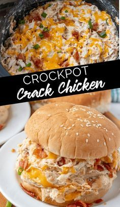 Creamy Crockpot Crack Chicken - What would you bring to a picnic? - Recipes - Creamy Crockpot Crack Chicken You - Crock Pot Recipes, Crockpot Dishes, Slow Cooker Recipes, Potato Recipes, Pasta Recipes, Crockpot Lunch, Soup Recipes, Crock Pots, Turkey Recipes