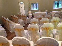 Chair covers with new antique gold sashes