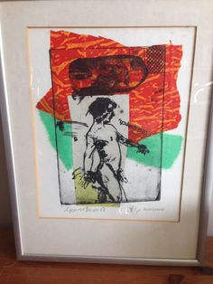 George Donald Framed Picture Titled  Cued Speech  Rare Artist Proof Print