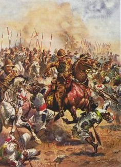 Charge of the 21st Lancers at The Battle of Omdurman, September 2, 1898.