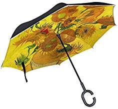 Colorful Pineapple Fruit Sturdy Windproof And UV Protection Compact Travel Umbrella For Women Men Double Layer Inverted Umbrella Cars Reverse Umbrella With C-Shaped Handle