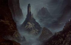 Citadel of the Raven, Bastien Lecouffe Deharme on ArtStation at https://www.artstation.com/artwork/LV8RA