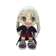 """Soul Eater 8"""" Maka Plush ($12) ❤ liked on Polyvore featuring plushies, anime, soul eater, stuffed animals, random, quotes, saying, phrase, filler and text"""