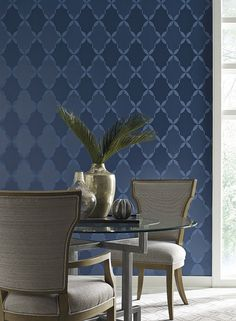 Roxy Wallpaper in Dark Greys and Neutrals design by Candice Olson for | BURKE DECOR