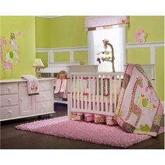 Kids Line Carter's Jungle Jill Four Piece Crib Bedding Set | BabyAge.com