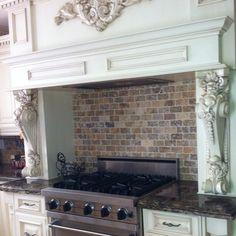 My Italian kitchen: love the brick! Kitchen Dinning, Old Kitchen, Dinning Lighting, Italian Kitchens, Remodeling Ideas, Lighting Ideas, Stove, My House, Brick