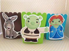 Shrek Party Popcorn or Favor Boxes Set of 10