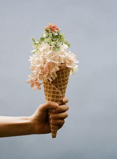 Ice Cream and Flowers