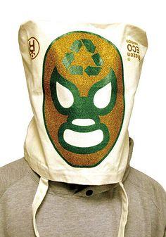 Ecobolsas inspiradas en la lucha libre.