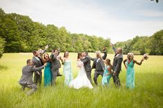 Having fun with the Bridal Party! |Happy Days Lodge| Allyse+Jon| Nathan & Amanda Photographers