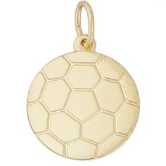 Soccer Ball Charm $27 http://www.charmnjewelry.com/category/n250/gold-Sport_Charms.htm?returnurl #SoccerBall #RembrandtCharms #CharmnJewelry