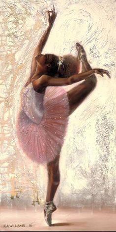 Black Love Art, Black Girl Art, Art Girl, Ballerina Art, Ballet Art, Black Ballerina, Ballet Dancers, Black Art Painting, Black Artwork