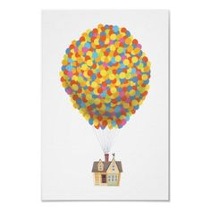 Balloon House from the Disney Pixar UP Movie Print by disney