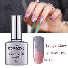 Gouserva 8ml Temperature Mood Color Changing UV Nail Gel Polish 12 Color Choose Soak Off Long-Lasting Chameleon Gel Nail Polish