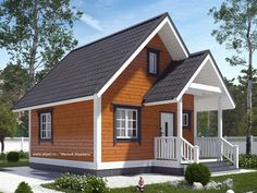 Дачный дом 6х6 из бруса недорого