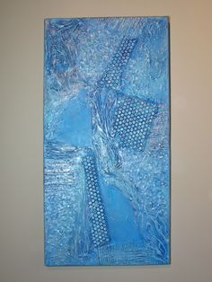 How to create texture in acrylic paintings & collage.