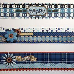 Denim Blues Collection Scrapbooking Border Ideas