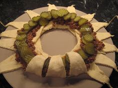 Ironically, the first recipe that I'm going to post, just happens to be a Pampered Chef recipe! As a fairly new Pampered Chef Consultant, I . Pampered Chef Pizza Stone, Pampered Chef Recipes, Baker Recipes, Cooking Recipes, Pampered Chef Ring Recipe, Crescent Roll Recipes, Crescent Rolls, Crescent Ring, Dessert